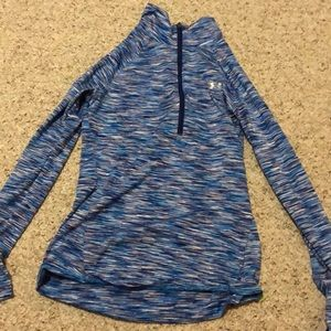 Girls blue under armour long sleeve